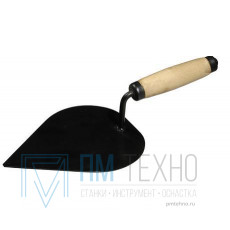 Кельма штукатура КШ 190х150 мм с деревянной ручкой