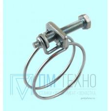 Хомут проволочный винтовой CNIC 50-55/2.2мм, М6х50мм, W1 оцинкованый (55А5055)