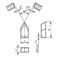 Пластина 11230 Т5К10 (10х25х6) (для резьбовых резцов)