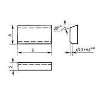Пластина 24130 Т15К6 (12х9х3,5) (для дисковых концевых и торцево-цилиндрич. фрез к агрегатным станкам)