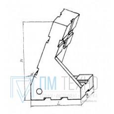 Опора угловая 45х30х60 35° правая, под паз 8мм (ДСПМ2-34) (восстановленная)