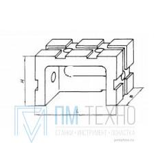 Опора прямоугольная  45х 30х 60 облегченная передвижная под паз 8мм (ДСПМ2-07) (восстановленная)
