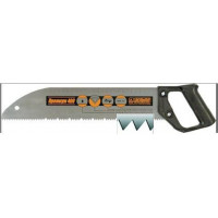 Ножовка 400мм прямой шаг 3мм с пластмассовой ручкой, закруглённое полотно