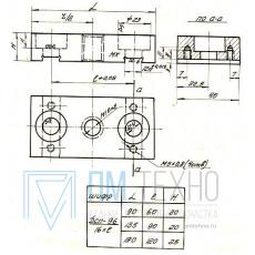 Планка  90х 45х 20 с резьбой М16х2, под паз 12мм (ДСП-96) (восстановленная)