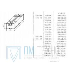 Планка 120х30х20 соединительная с Т-образным пазом 8мм (7030-1496) ГОСТ14464-69
