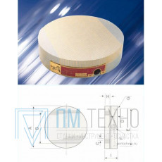 Плита магнитная круглая Х51  d200 сила притяжения 90 N/см кв.
