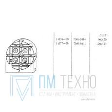 Плита Круглая d 120х 20 с Т-образными пазами 8мм (7081-0411) ГОСТ 14377-69 (восстановленная)