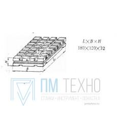 Плита Прямоугольная 180х120х32 с Т-образными пазами 8мм (В-9470) (восстановленная)