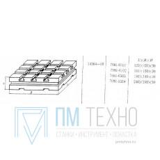 Плита Квадратная 150х150х30 с Т-образными пазами 8мм (7081-0302) ГОСТ 14364-69 (восстановленная)