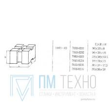 Подкладка квадратная 30х30х 17,5 под паз 8мм (7033-0235) ГОСТ 14401-69