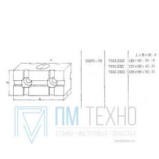 Проставка Прямоугольная 120х 60х 50 с установочным отверстием d 35мм под паз 12мм (7033-2323) ГОСТ15270-70 (ДСП-41)