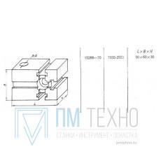 Проставка Прямоугольная  90х 60х 30 со смещенным установочным отверстием d 18мм под паз 12мм (7033-2931) ГОСТ15268-70