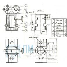 Домкратик  90х 45х 60 с 2-мя роликами (УЗСП-90)