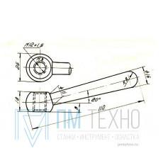Рукоятка 110х 18 с гайкой М12х1,5 шаровая (ДСП-87)