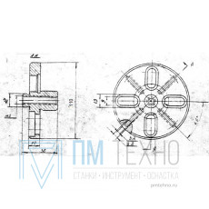 Фланец установочный D110х 10 d18мм под паз 8мм (ДСПМ3-16)