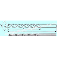 Сверло d  2,3 х 59х90  ц/х Р6М5  удлиненное ГОСТ 886-77 (2300-0006)