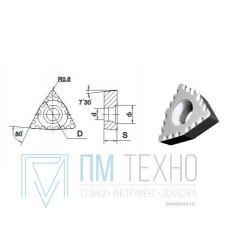 Пластина WCMX - 080408  МС2210 трёхгранная ломаная dвн=4мм (для сверления рельс)