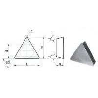 Пластина TРUN  - 220412 Т15К6(Н10) трехгранная (01311) гладкая без отверстия